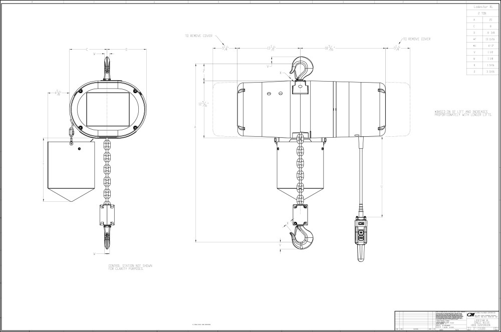medium resolution of 1 ton cm chain hoist wiring diagram engine diagram and 2 ton electric chain hoist 2 ton coffing hoist parts