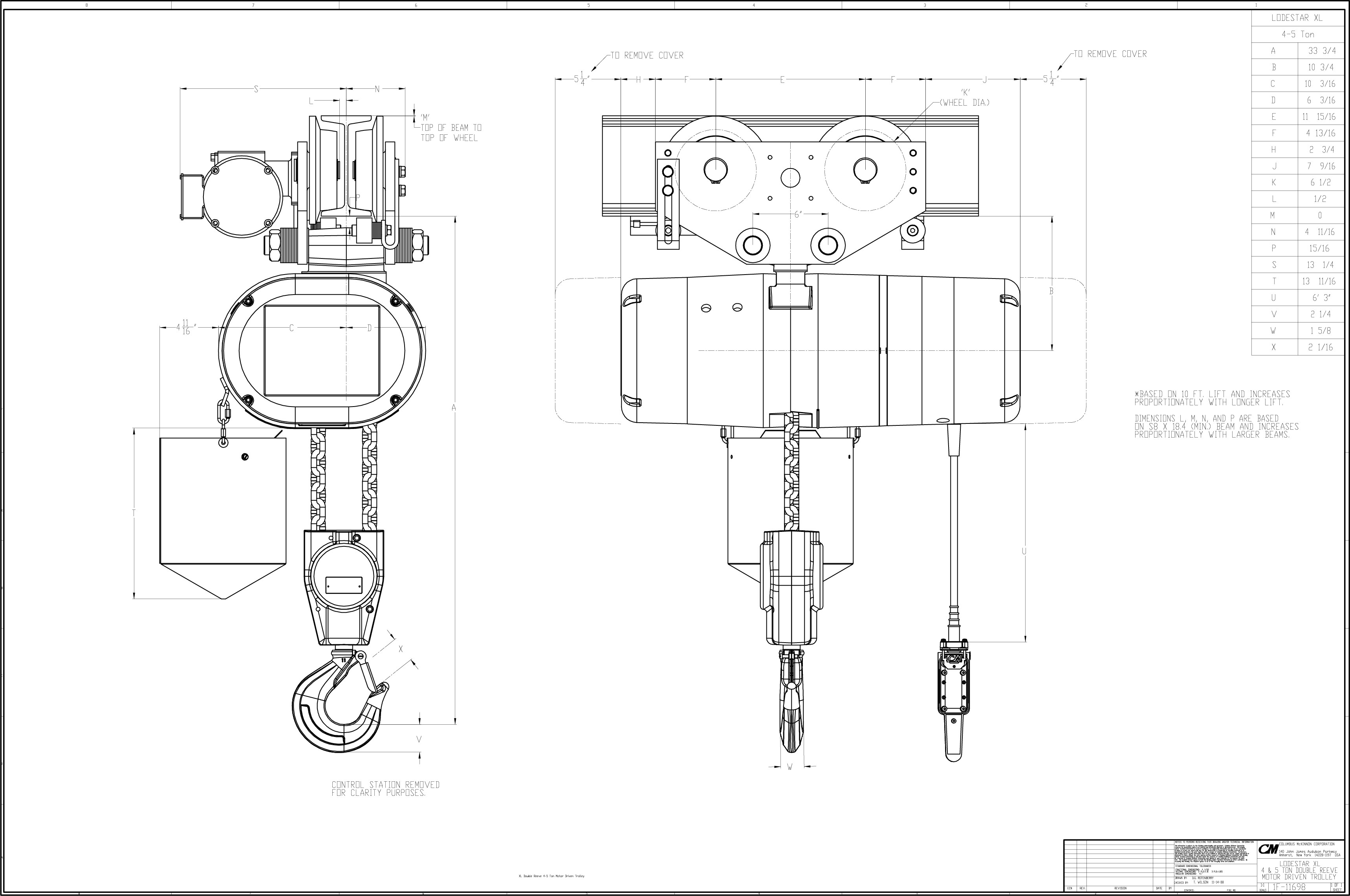 Cm Hoist Parts List Wiring Diagram CM Hoist Loadstar