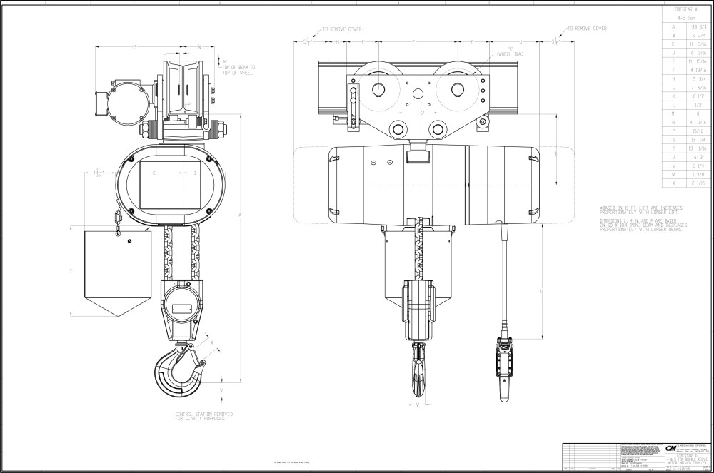 medium resolution of 3 4 ton chain hoist diagram wiring diagrams chain fall hoist 3 4 ton chain hoist diagram