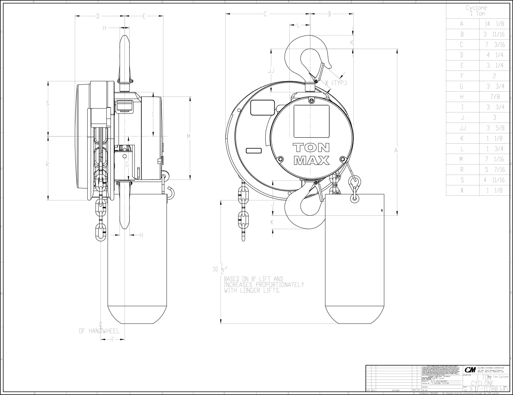 hight resolution of  cad image 1f11788 1 ton with hook