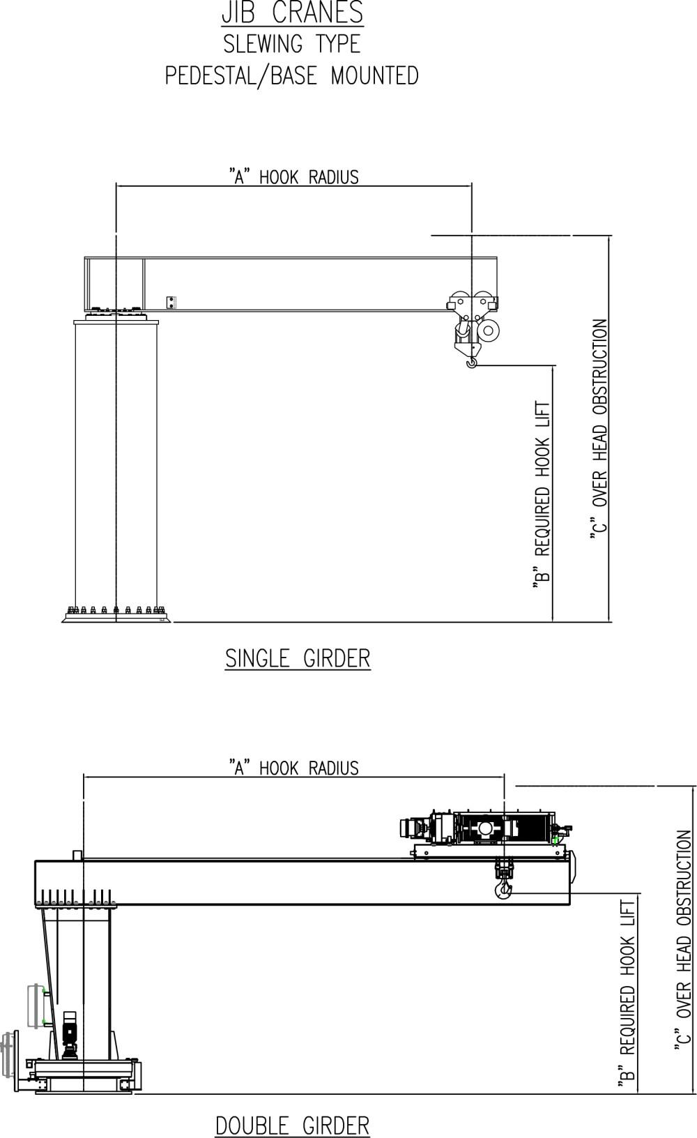 medium resolution of drawing aceco free standing insert mounted cad image jib crane sheet