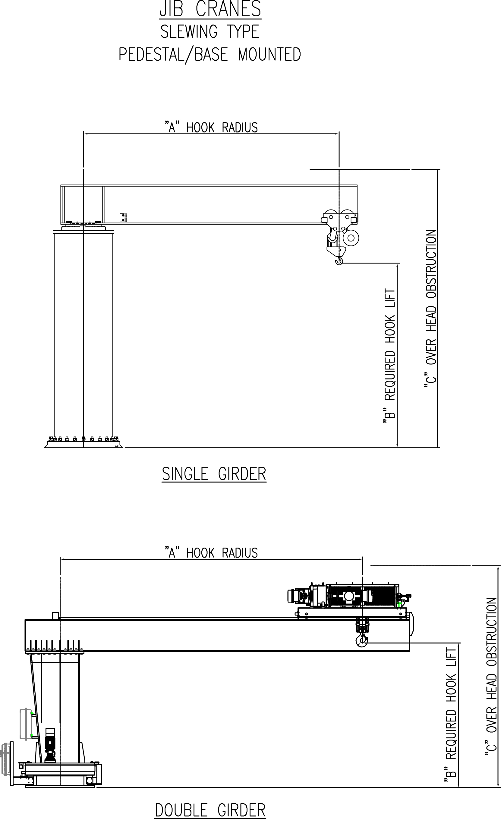 hight resolution of drawing aceco free standing insert mounted cad image jib crane sheet