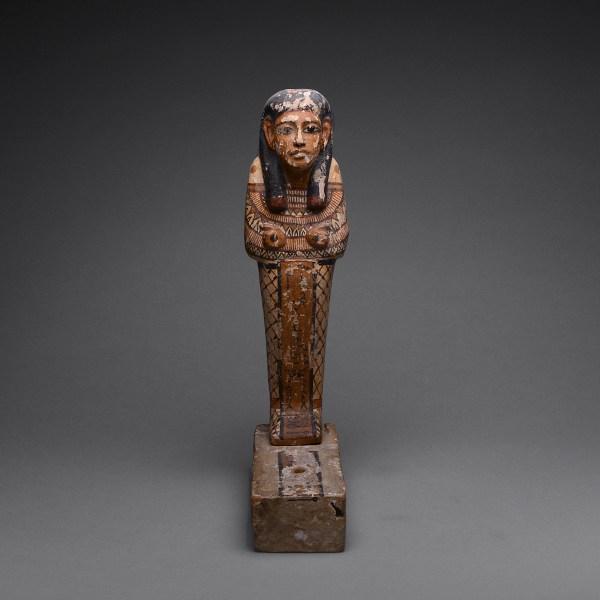 Wood Polychrome Sculpture Ptah-sokar-osiris - Barakat