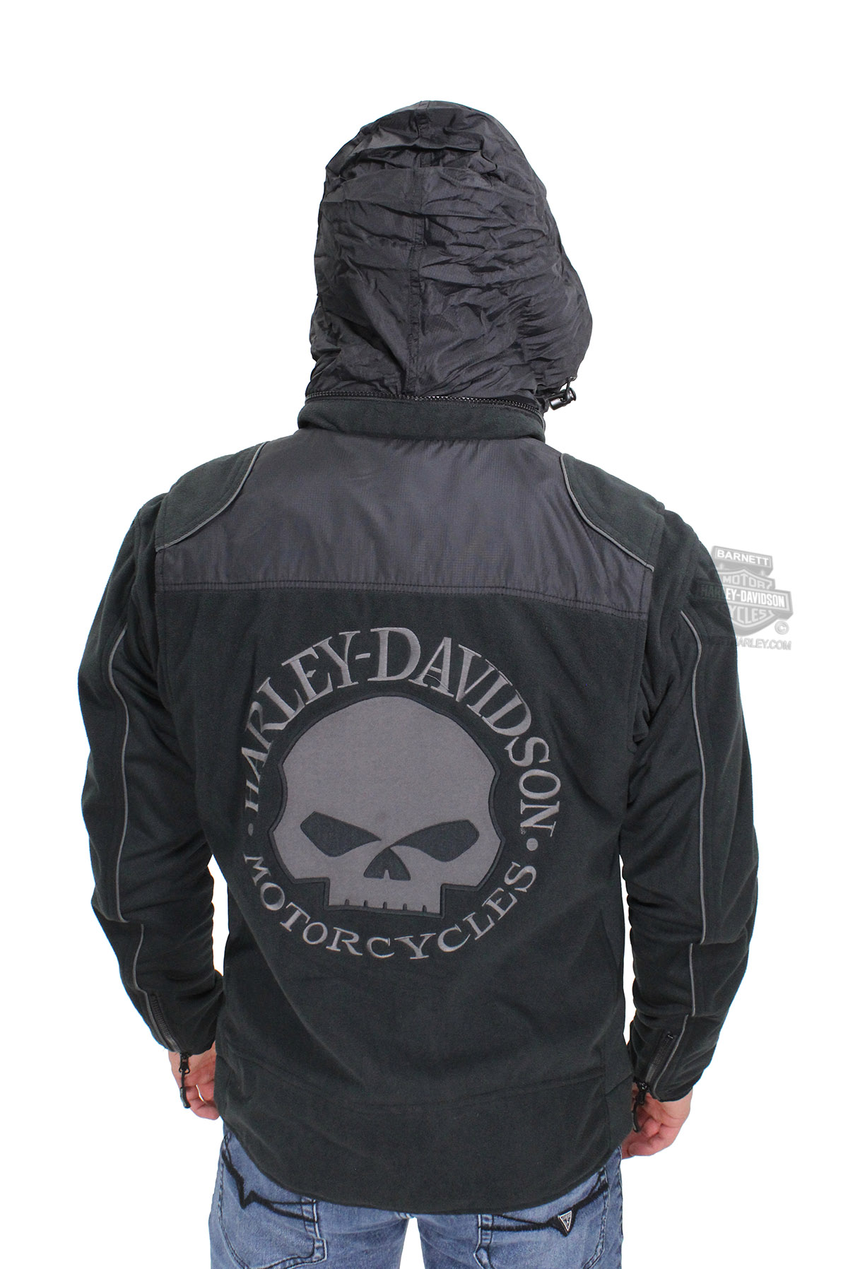 Harley Davidson 174 Mens Willie G Skull Windproof Fleece With