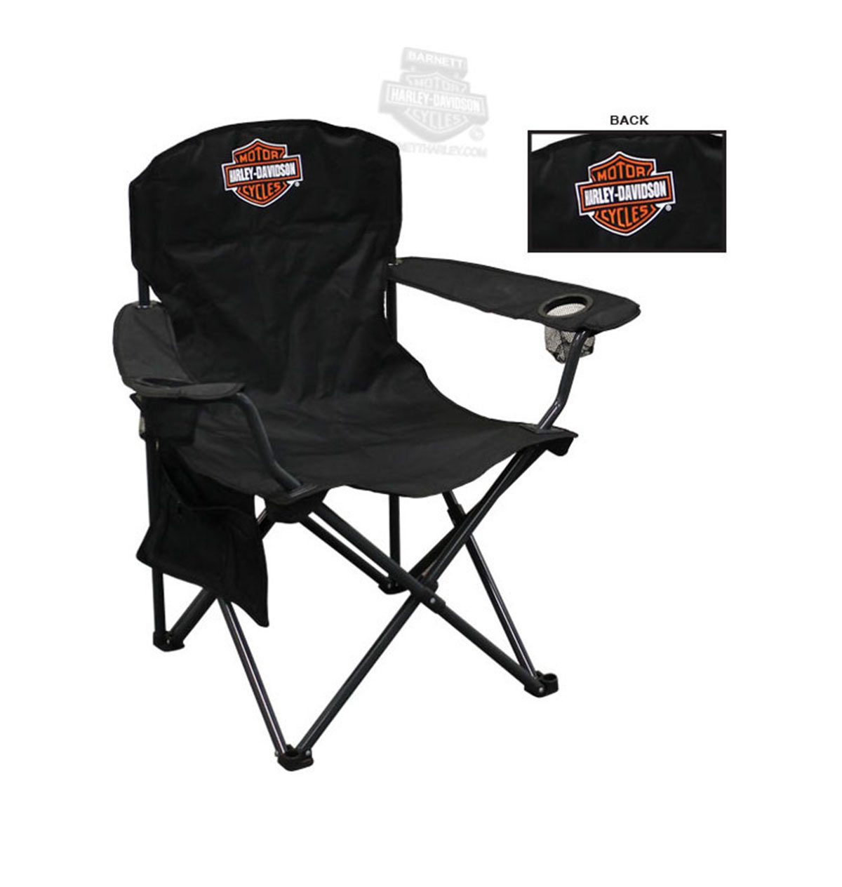 Harley Davidson Chairs Ch30264 Harley Davidson B Ands With Drink Holder Xl Black