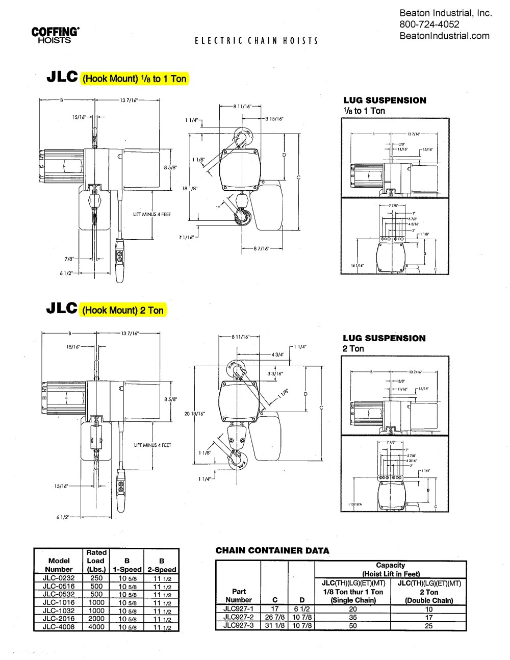 medium resolution of coffing jlc 1 2 ton electric chain hoist 1000 lbs coffing hoist electrical diagram coffing chain
