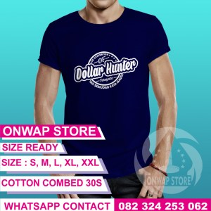 Kaos The Generation Of Dollar Hunter Biru Donker