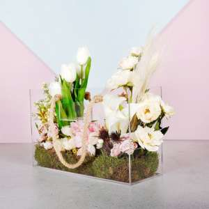 Artificial Flower Acrylic Handbag