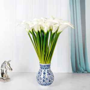 FRENCH BLUE VASE LILIES