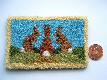 kit to make a miniature rug