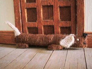 Pattern for dolls house draught excluder