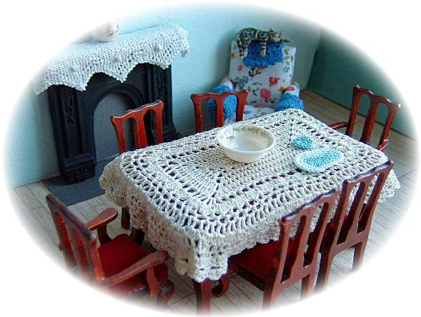 miniature tablecloth