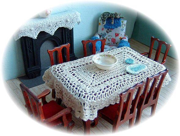 miniature tablecloth