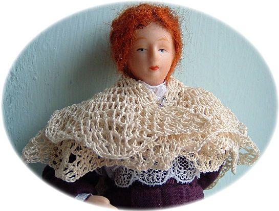 miniature crochet shawl