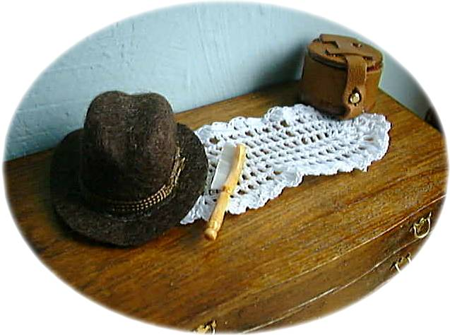 miniature crochet runner