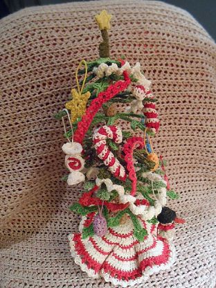 Barb's completed crochet tree