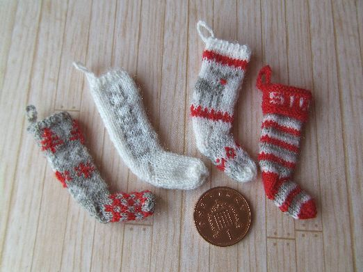 knitted miniature stockings