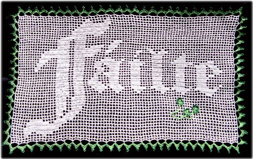 pattern for an Irish Welcome panel