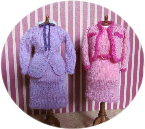 Knitted dolls clothes