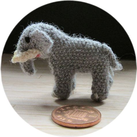 Pattern for a miniature elephant toy