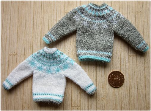 112th Scale Snowflake Sweaters Pattern Buttercup Miniatures
