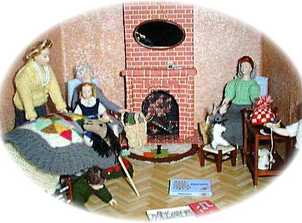 1:12th scale dolls house dolls""