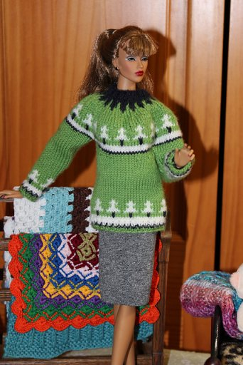 dolls knitted jumper