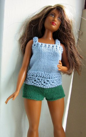 clothes on curvy Barbie