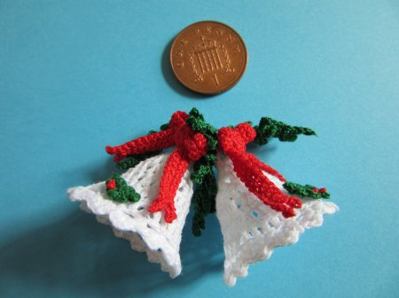 miniature crochet bells