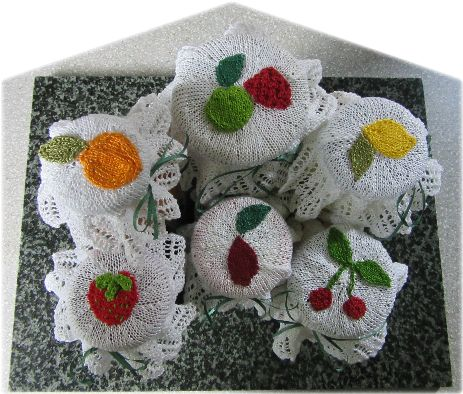 knitted jam jar covers