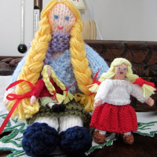 Pattern for knitted dolls