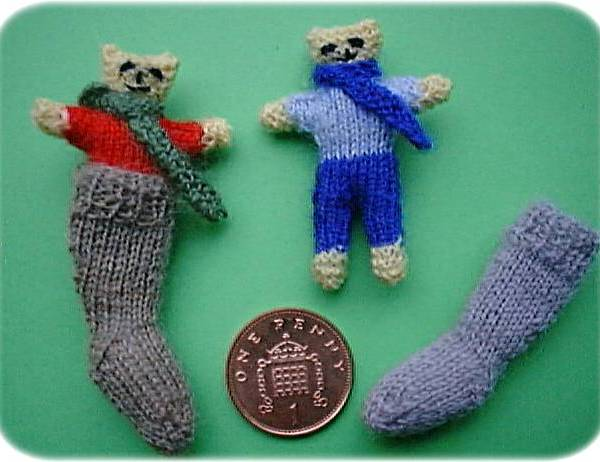 Pattern for teddy in stocking