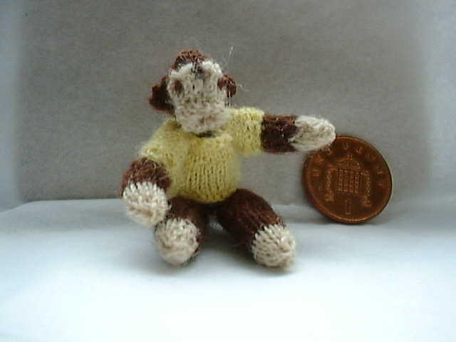 miniature monkey toy