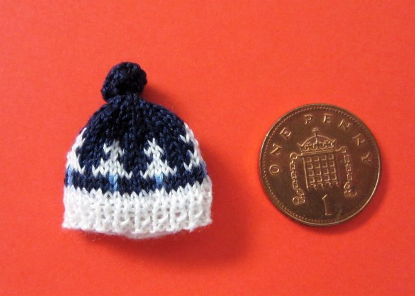 miniature knitted hat