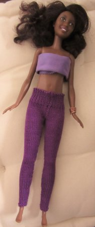 miniature knitted leggings