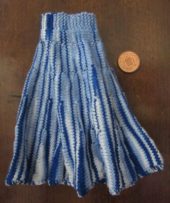 miniature knitted skirt