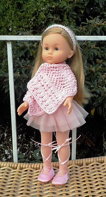 knitted miniature shawl
