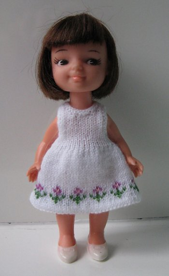 knitted dolls dress