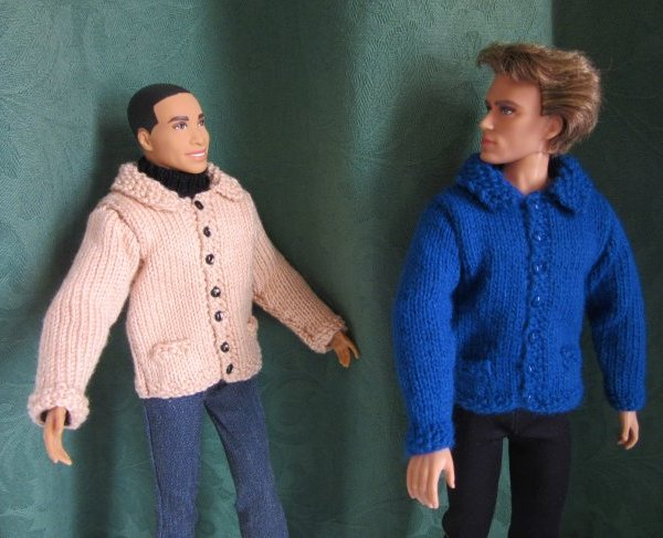miniature knitted jackets