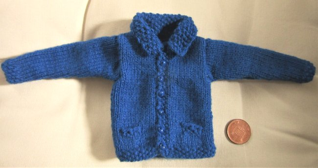 Miniature knitted jacket
