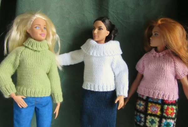 miniature knitted jumpers