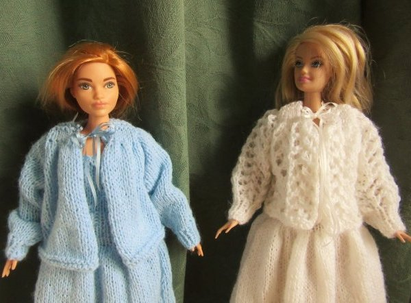 miniature knitted bed jacket