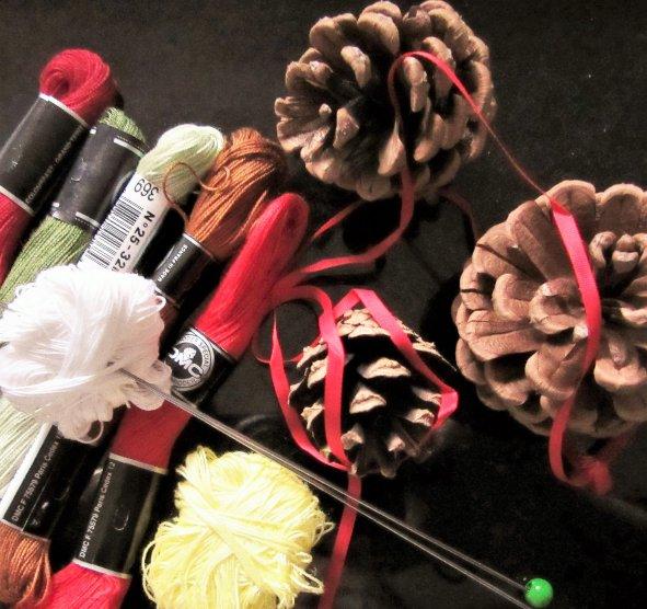 miniature knitting materials