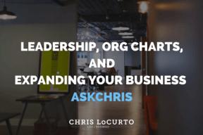 leadership and org charts
