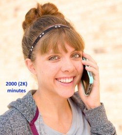 2000 (2K) minutes Prepaid Phone Calling Card for US 1