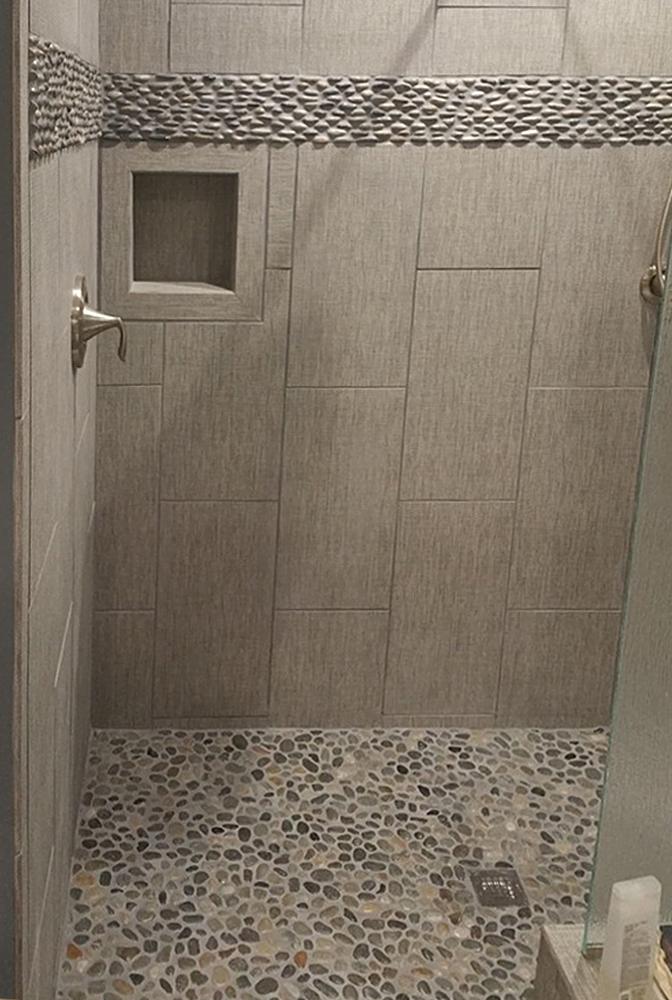 bathroom wall tile border ideas