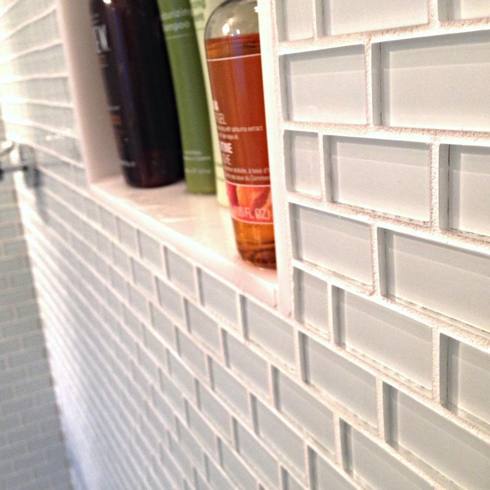 white 1x2 mini glass subway tile