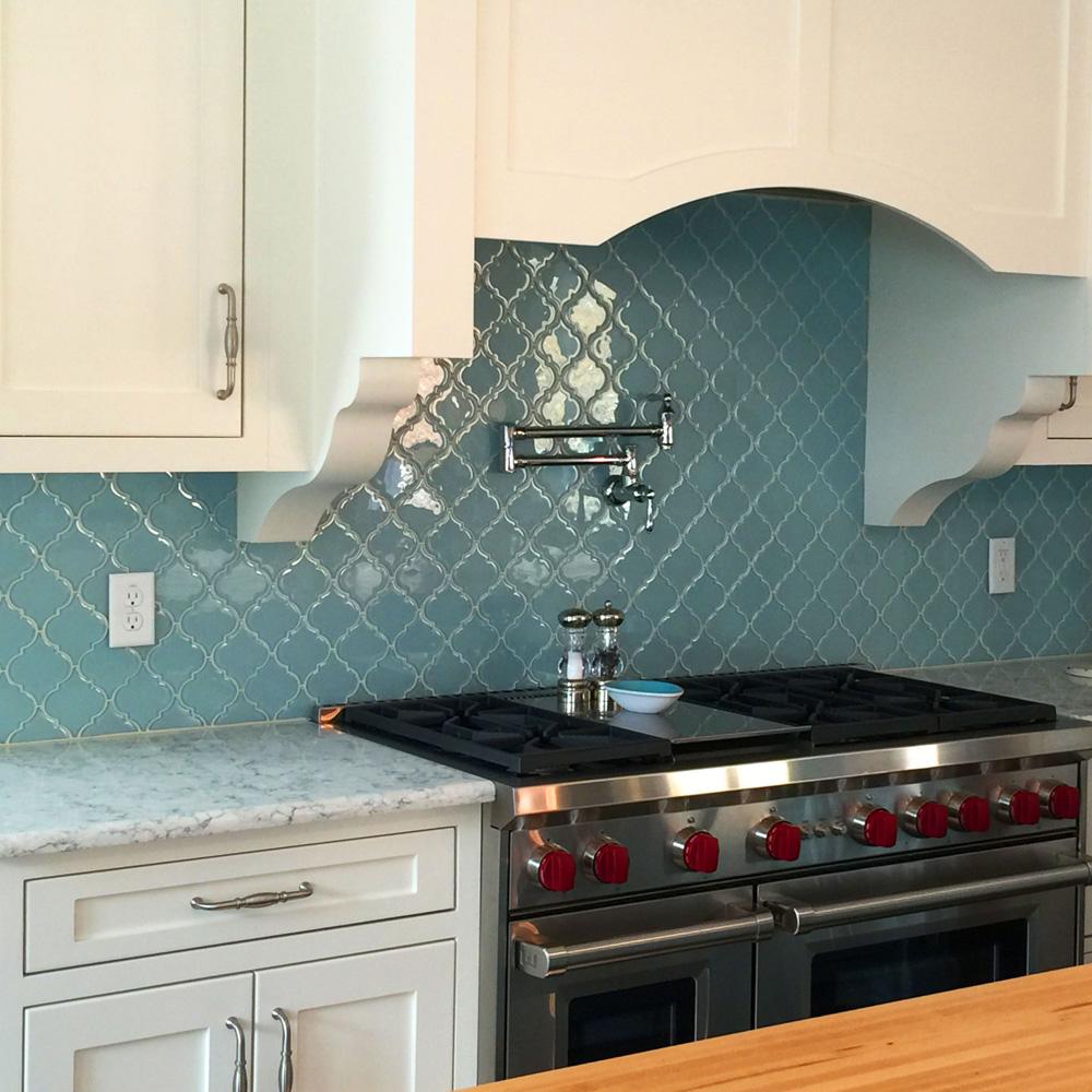 vapor arabesque glass tile
