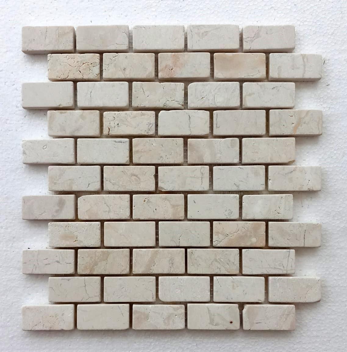 cream mini stone subway tile