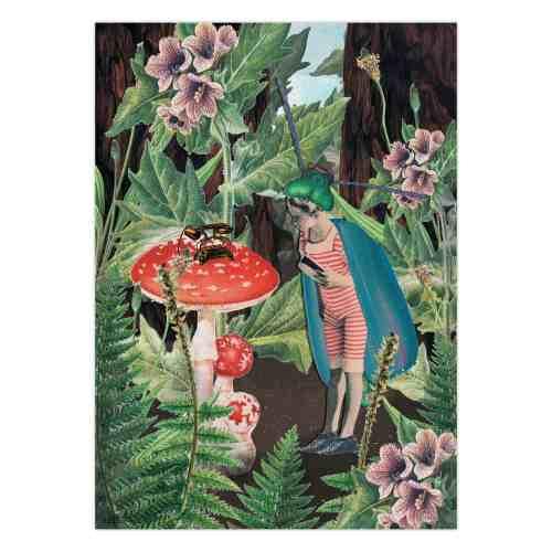 """""""Tale""""  The Blueberrythinks by Jagoda Strączek, poster"""
